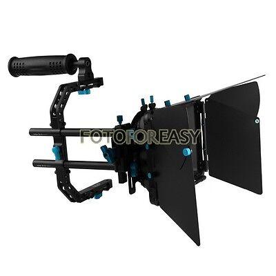 FOTGA DP3000 Matte Box Sunshade +C Cage Support Top Handle for 15mm Rod DSLR Rig