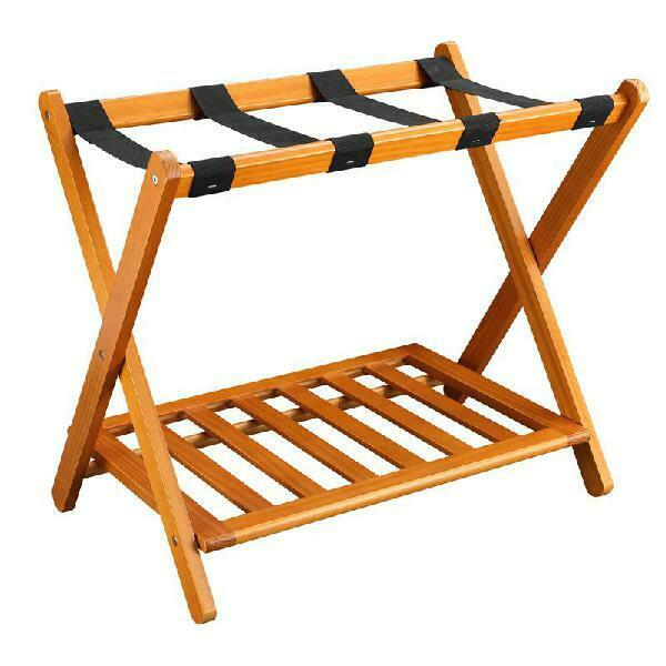 Stony-Edge Luggage Rack Suitcase Stand for Guest Room with S