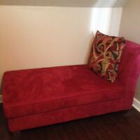 Beautiful Red chaise