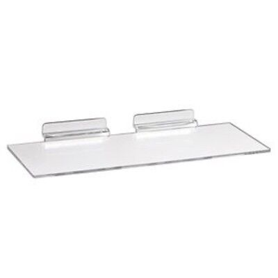 New Slatwall 10 X 4clear Acrylic Shoe Display Shelf 10 Pack