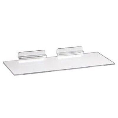 New Slatwall 10 X 4clear Acrylic Shoe Display Shelf 10 Pack