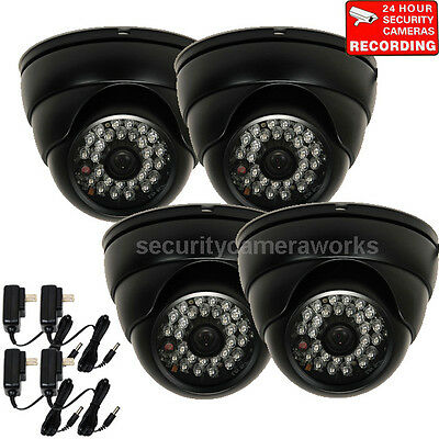 4 Security Cameras IR Weatherproof SONY CCD Infrared Night Vision Wide Angle - 4 Ccd Night Vision Cameras