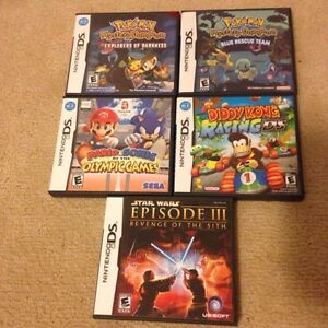 Nintendo DS games - Mario/Diddy Kong/Pokemon