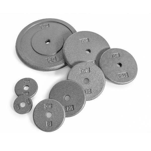CAP Barbell Standard Cast Iron Weight Plate, 1.25-50 lbs, Si