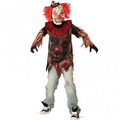 Entsetzlicher Clown Gr. 152 158  Karneval Kostüm Kinder Halloween Jungen - Kinder Halloween Clown Kostüm