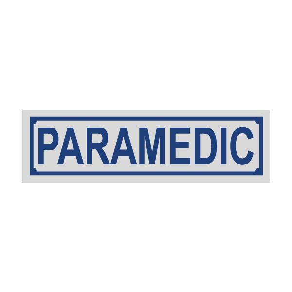 Paramedic Blue Helmet Window Reflective Title Decal Sticker