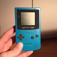 Game Boy Color with Pokemon Blue