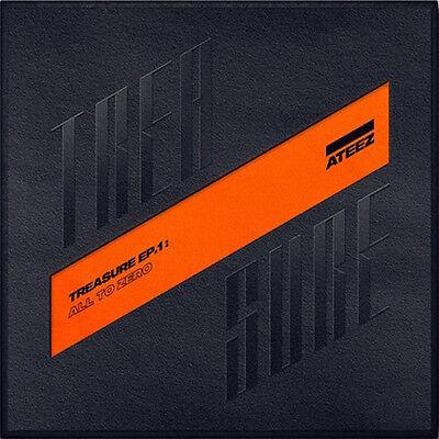 ATEEZ[TREASURE EP.1:ALL TO ZERO]Album CD+P.Book+Sticker+Poster+PostCard SET+Card