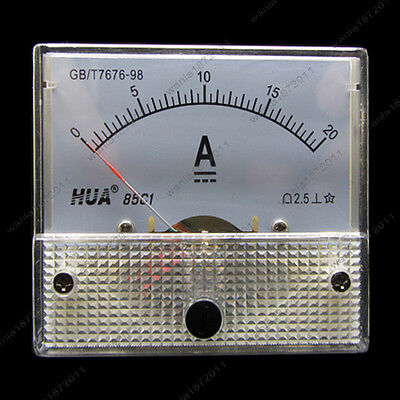 Dc 20a Analog Ammeter Panel Amp Current Meter 85c1 0-20a Dc Doesnt Need Shunt
