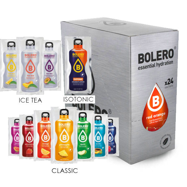 Bolero Drinks Preparato istantaneo per Bevande 24x9gr con Stevia GUSTI MISTI!!!