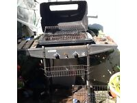 Barbeque Homebase on wheels storage extra gas ring