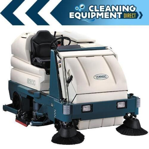 """Reconditioned Tennant 8300 battery powered 40"""" disk rider sweeper/scrubber"""