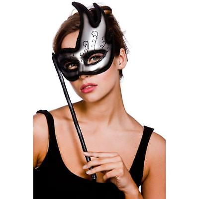 Masquerade Ball Face Eye Mask On A Stick Ladies Fancy Dress Venetian Carnival - Venetian Masquerade Masks On A Stick