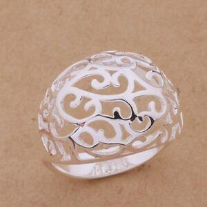925 silver plated big hollow ring thumb ring fashion