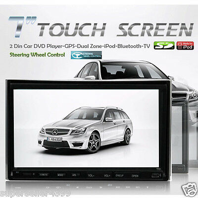"Double 2 Din In dash 7"" Touch Screen Car DVD Player with Bluetooth Ipod TV Radio on Rummage"