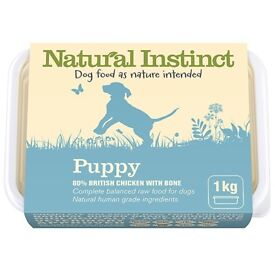 4 packs of frozen raw puppy food