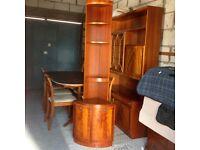 Red mahogany Corner Unit