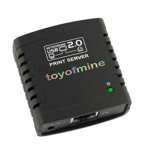 New USB 2.0 LPR Print Server Printer Share Ethernet WiFi Networks Networking Hub