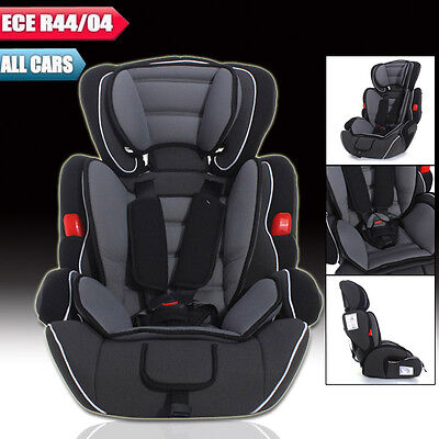 Black Convertible Baby Kid Children Car Seat & Booster Seat Group 1/2/3 9-36 kg
