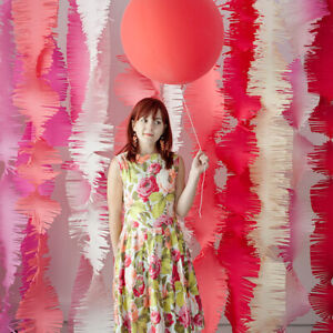 Italian crepe paper for party backdrops, flowers