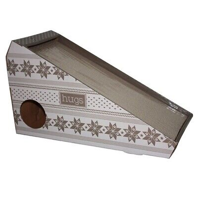 Happy Pet Cardboard Cat Scratching Board with Ramp & Catnip - Add Treats & Toys!