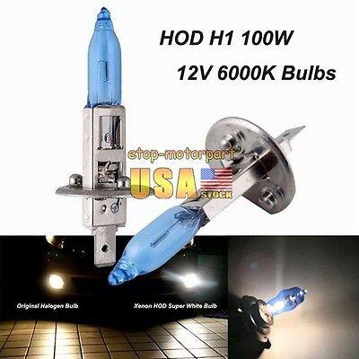 1Pair H1 6000K 12V 100W White Car Driving HOD Xenon Bulb Lamp Light Headlight