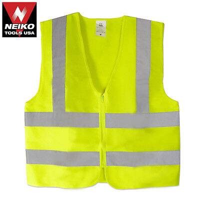 Neiko High Visibility Neon Green Safety Vest Meets Ansiisea Standars Size L