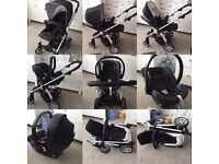 Mamas & Papas Sola Pram/Pushchair Travel System in Black