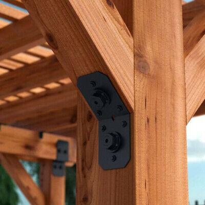 OZCO 51768 Ironwood 4-inch Flush Inside 45-degree Angle Bracket, (4 per Pack) 45 Degree Angle Bracket