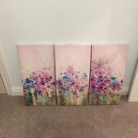 Large three part canvas picture