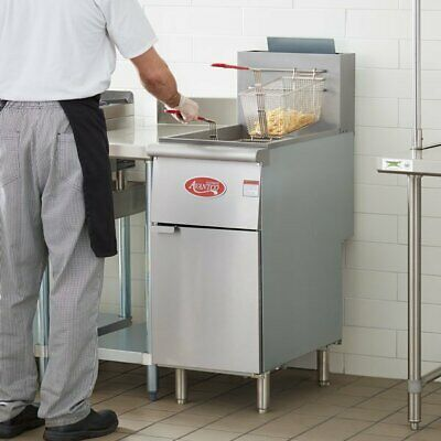 Stainless Steel Liquid Propane Commercial Restaurant Deep Fryer 40 Lb 200 -