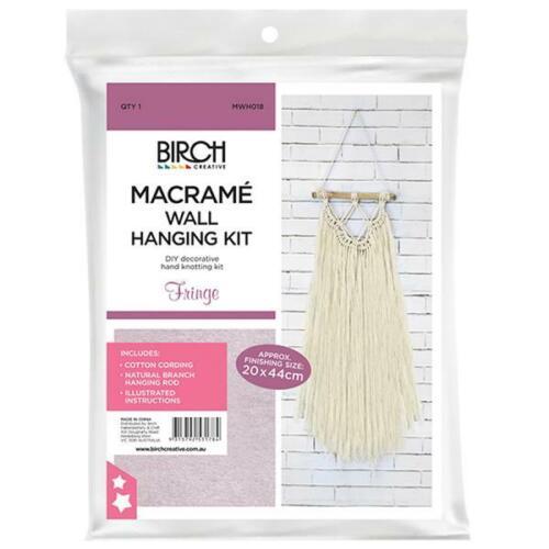 Birch MACRAME Wall Hanging Kit FRINGE 20x44cm MWHS018 Knotting/Weaving