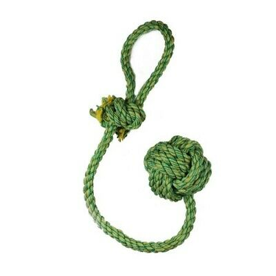 Nuts For Knots Rope Ball Dog Toy - Happy Pet Knotted Tough Rope Puppy Fetch Chew