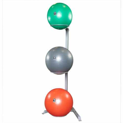 Body-Solid GSR10 Vertical Stability Ball Storage Rack - Holds 3 Exercise Balls