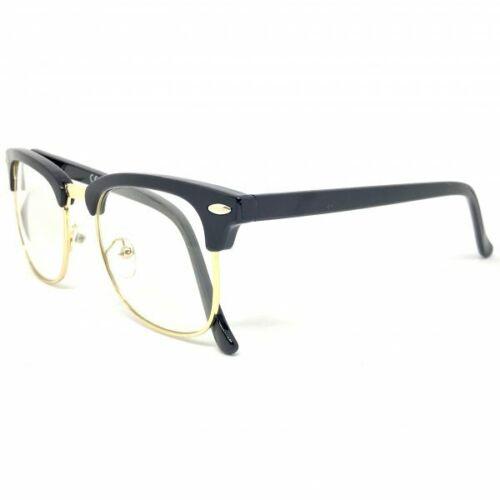 60s Retro Malcolm X Horn Rim Hipster Vintage Glasses Black - Malcom