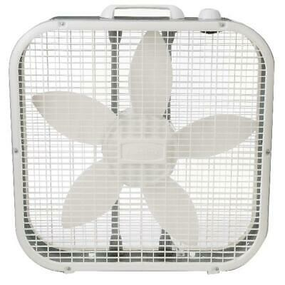 20 Inch Box Fan 3-Speed   Portable White Box Fan Air Circula