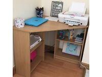 Corner desk unit
