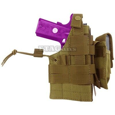 NEW Condor H-1911 Tactical MOLLE Ambidextrous Pistol Holster & Mag Pouch TAN