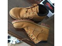 Timberlands size 8-9, literally 2 weeks new