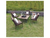 Luxurious Outdoor Fire Pit Furniture Set