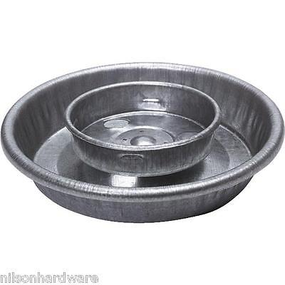 3 Pack Steel Fountain Poultry Waterer Base For 1 Qt Jar Feed Pan Tray 9826