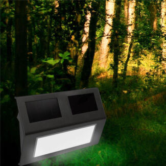 LED Solar Garden Shed Light Stairway Step Path Deck Wall lamp
