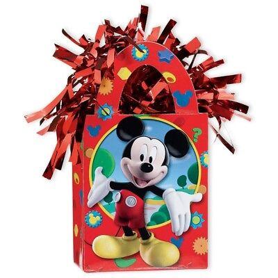 Mickey Mouse Ballongewicht rot mit Metallicfäden für den Kindergeburtstag