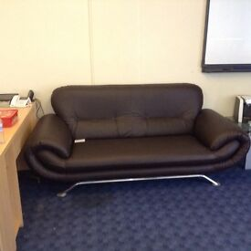 3 piece faux leather suite