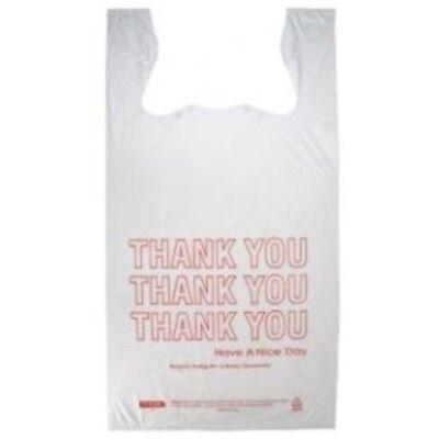 Small T-shirt Hdpe Thank You Plastic Shopping Grocery Bags 8x 4x 16 - 1000cs