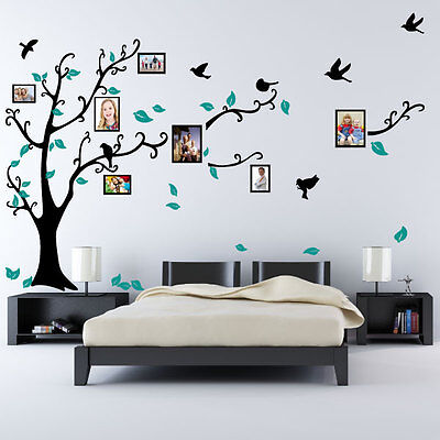 Family Tree Bird Photo Frame Nursery Wall Quotes, Wall Stickers, Wall Art