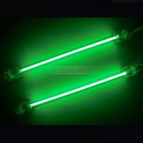 2x green 15cm car auto exterior interior neon light lamp ebay. Black Bedroom Furniture Sets. Home Design Ideas