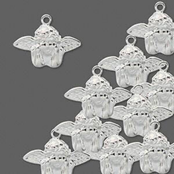 Angel Charms Silver lightweight Cherub Drop Jewelry Lot of 50