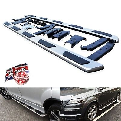 Side Step Skirt Rail Protection Bar Running Board OEM Fit For 2006-15 Audi Q7 4L