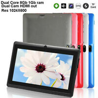 """★Tablet 7"""" 1.6Ghz Dual Core Dual Cam Memoire 1GB 8Gb Nand HDMI★"""